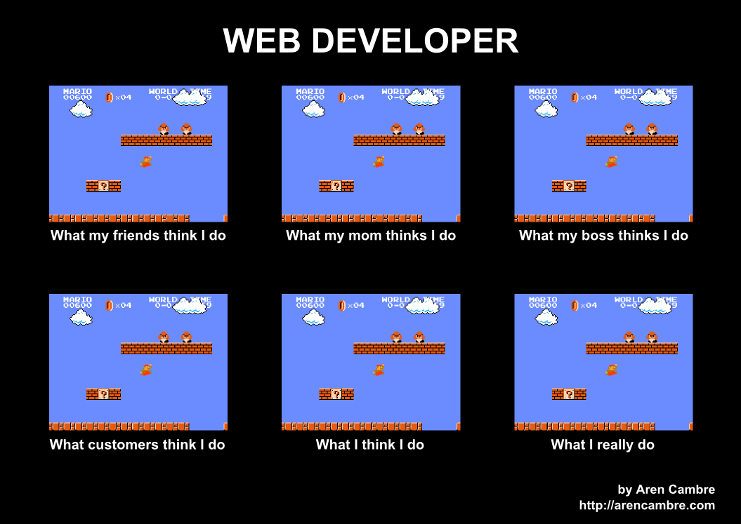 What web developers really do