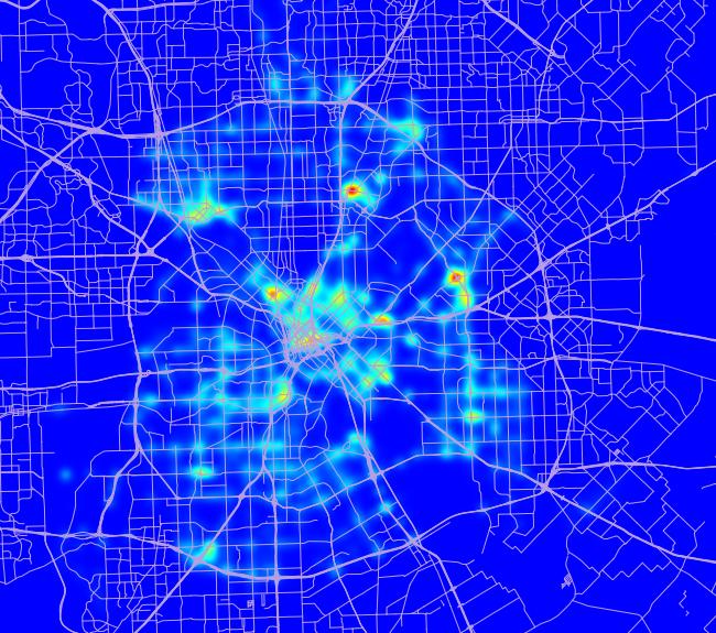 Dallas Traffic Map Where most traffic tickets are written in Dallas – Aren Cambre's Blog Dallas Traffic Map