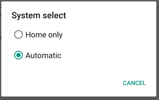 Moto X system select
